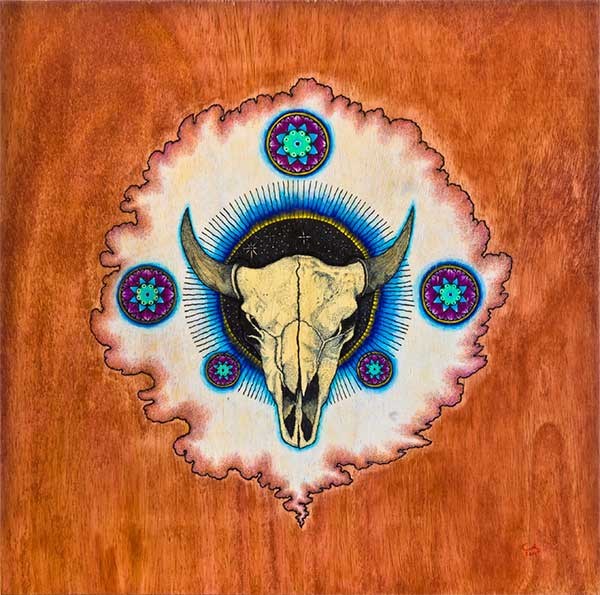 Buffalo Skull - Chris Huang Art