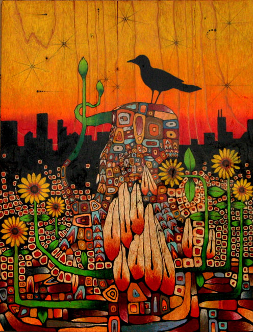 Sunflowers In The City - Chris Huang Art