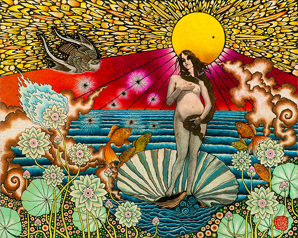 Birth of the Venus Transit - Chris Huang Art